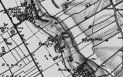Old map of Worlaby Fox Covert in 1895
