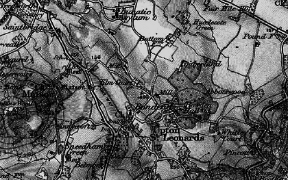 Old map of Bondend in 1896