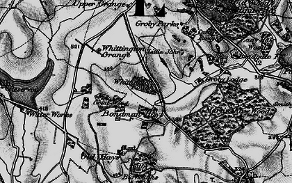 Old map of Whittington Grange in 1895