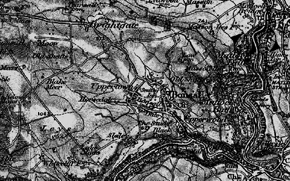 Old map of Bonsall in 1897