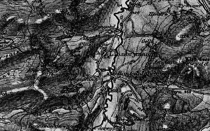 Old map of Bont Dolgadfan in 1899