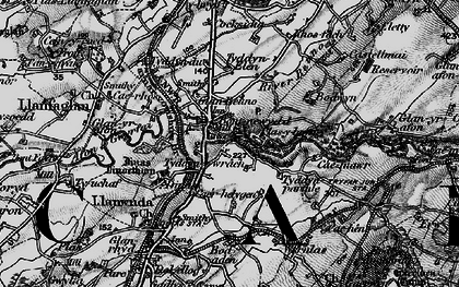 Old map of Bontnewydd in 1899