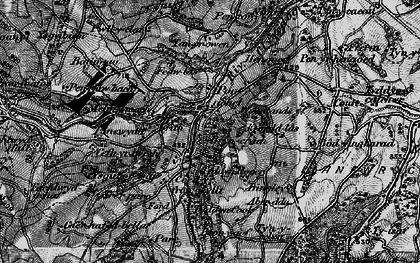 Old map of Aber-ddu in 1897