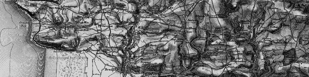 Old map of Winsham Down Ho in 1897