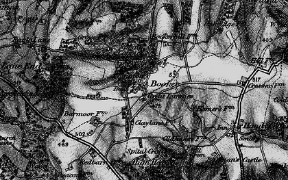Old map of Wycombe Air Park in 1895