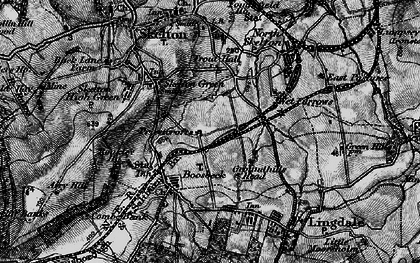 Old map of Boosbeck in 1898
