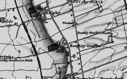 Old map of Boothby Graffoe in 1899