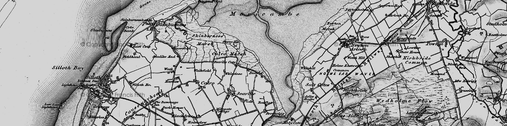 Old map of Whinclose in 1897