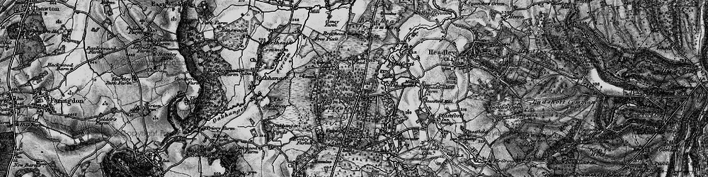 Old map of Bordon in 1895