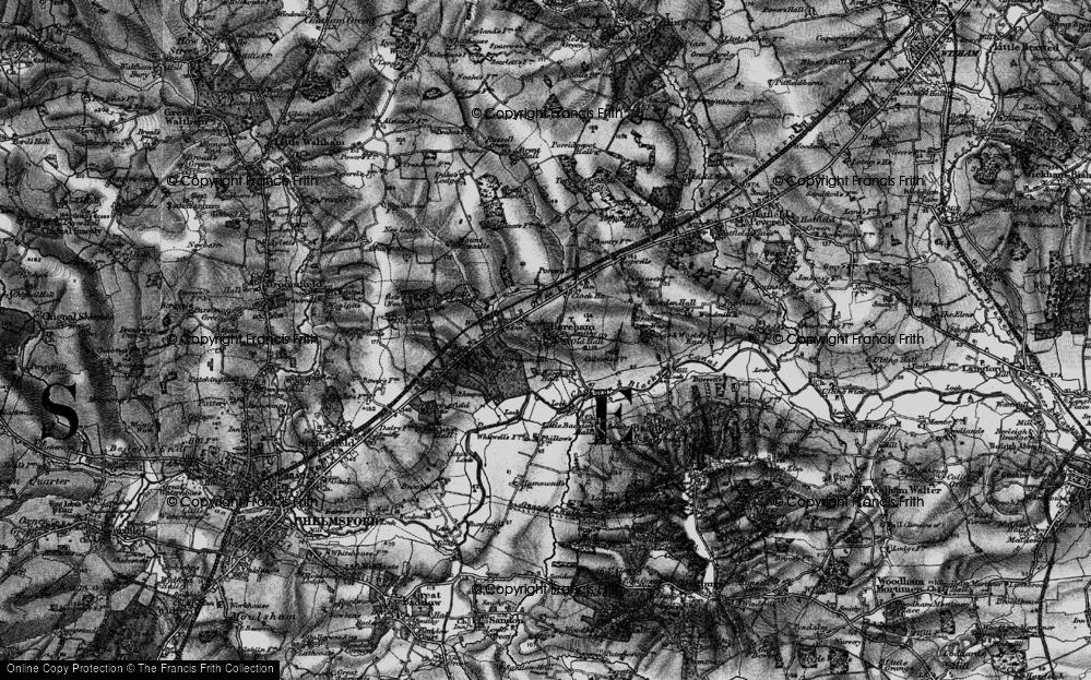 Old Map of Boreham, 1896 in 1896