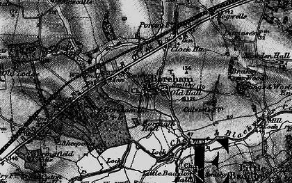 Old map of Boreham in 1896