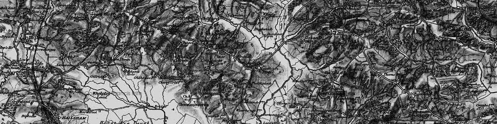 Old map of Windmill Hill Place in 1895