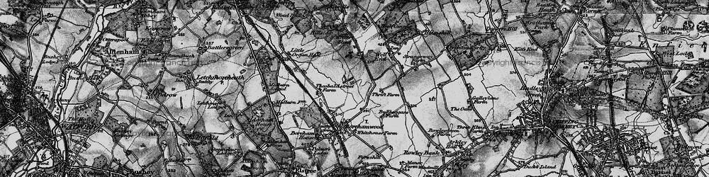 Old map of Borehamwood in 1896