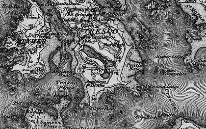 Old map of Tresco in 1896
