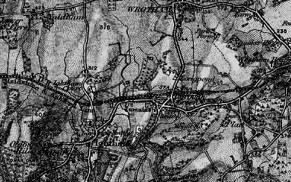 Old map of Borough Green in 1895