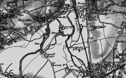 Old map of Borough Marsh in 1895