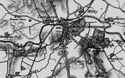 Old map of Boroughbridge in 1898