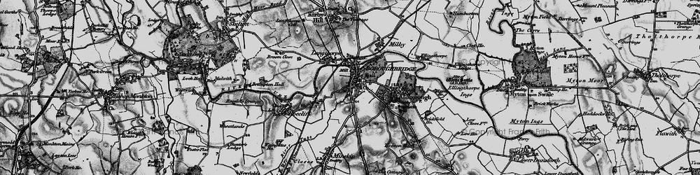 Old map of Boroughbridge in 1898