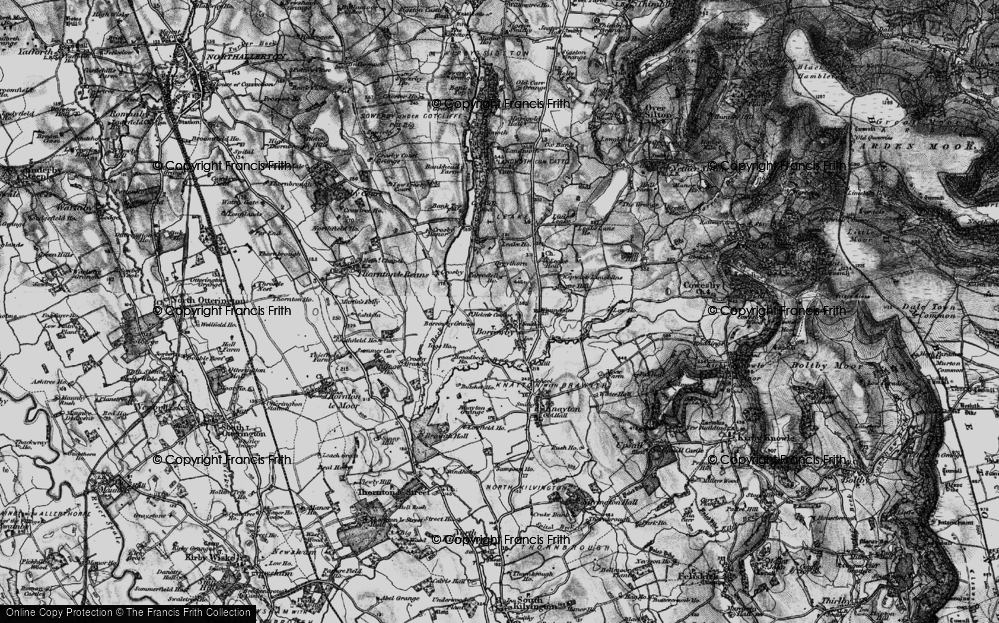 Old Map of Historic Map covering Leake Ho in 1898