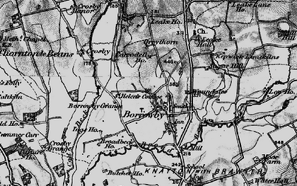 Old map of Woundales in 1898