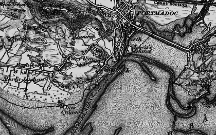 Old map of Borth-y-Gest in 1899