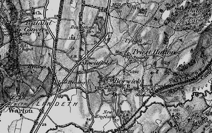 Old map of Borwick in 1898