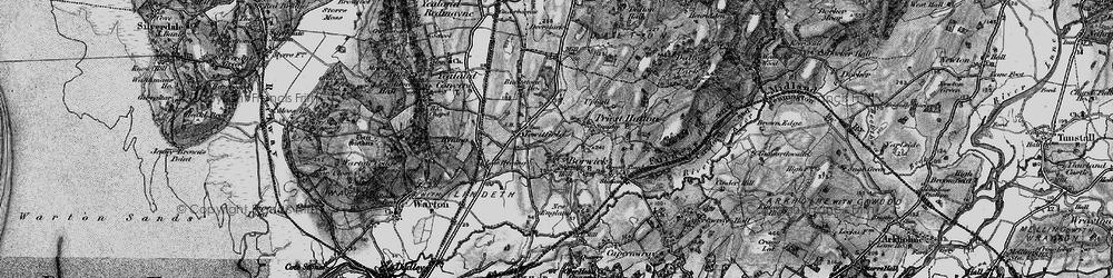 Old map of Borwick in 1898