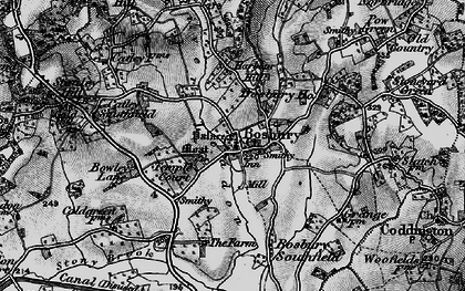 Old map of Bosbury in 1898