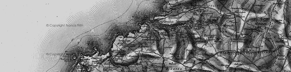 Old map of Boscastle in 1895