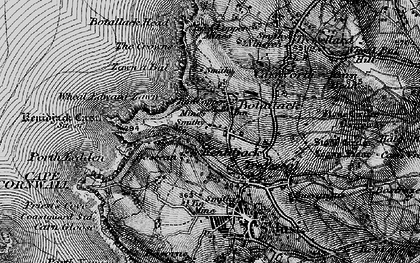 Old map of Wheal Edward Zawn in 1895