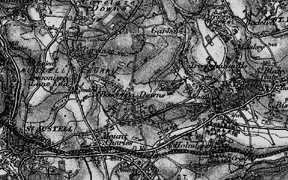 Old map of Boscoppa in 1895