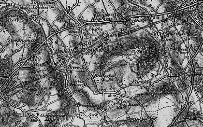 Old map of Bosleake in 1896