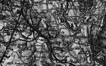 Old map of Bosley in 1897
