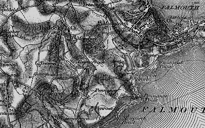 Old map of Boslowick in 1895