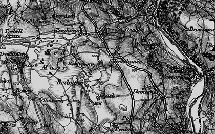 Old map of Boslymon in 1895