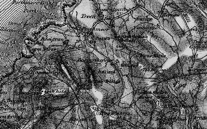 Old map of Bosporthennis in 1896