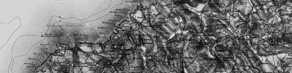 Old map of White Downs in 1896