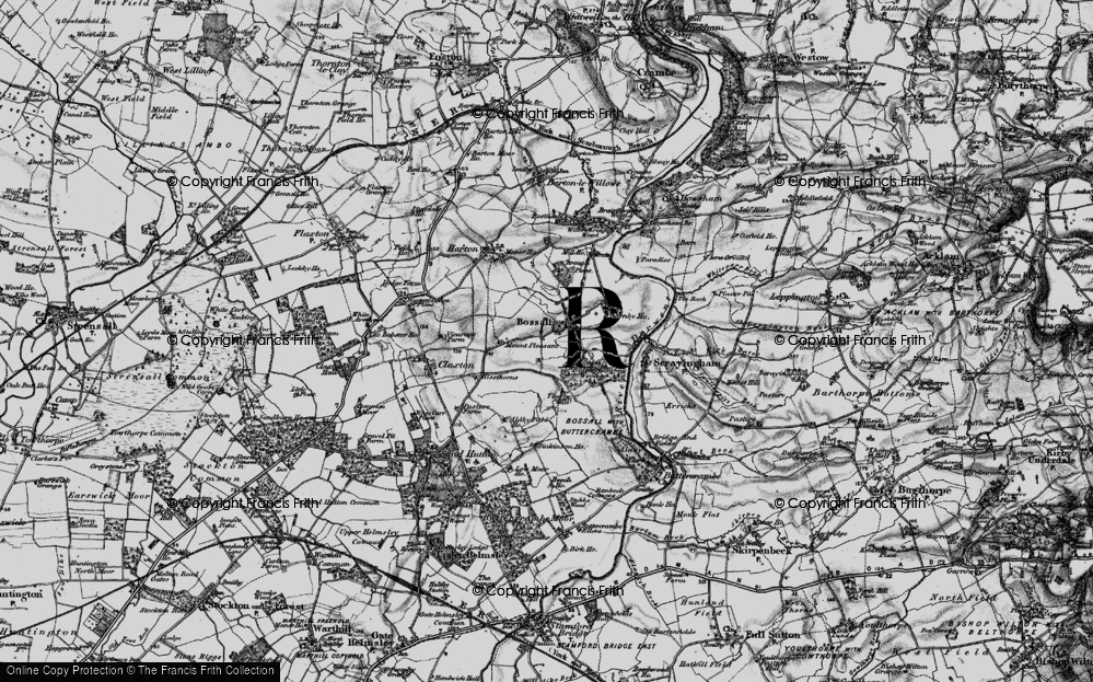 Old Map of Historic Map covering Aldby Field Ho in 1898