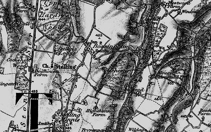 Old map of Atchester Wood in 1895