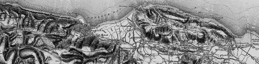 Old map of Bossington in 1898