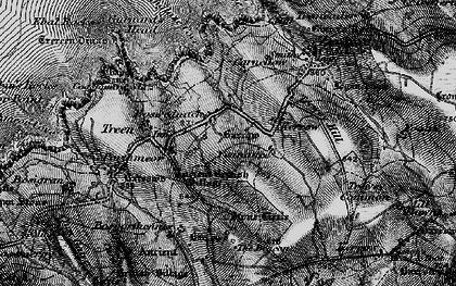 Old map of Boswednack in 1896