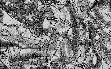 Old map of Boswyn in 1896