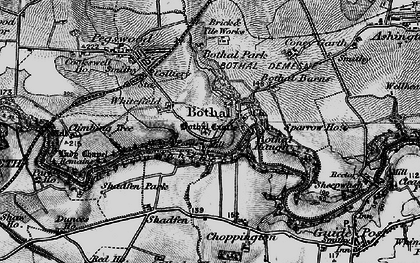 Old map of Whitefield in 1897