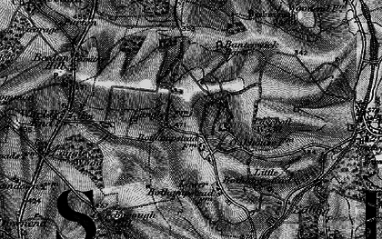 Old map of Ashridge Wood in 1895