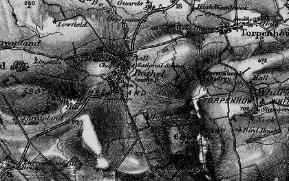Old map of Wharrels Hill in 1897