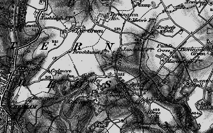 Old map of Botley in 1896