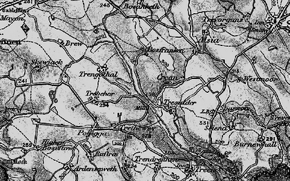 Old map of Bottoms in 1895