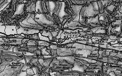 Old map of Wester New Moor in 1898