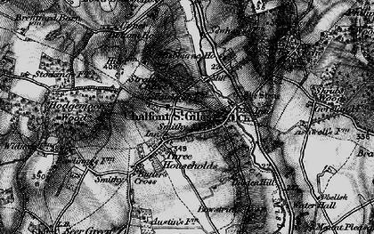 Old map of Bottrells Close in 1896