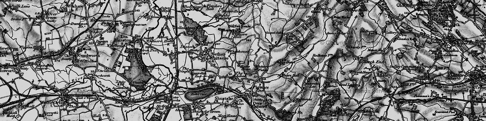 Old map of Whitacre Fields in 1899